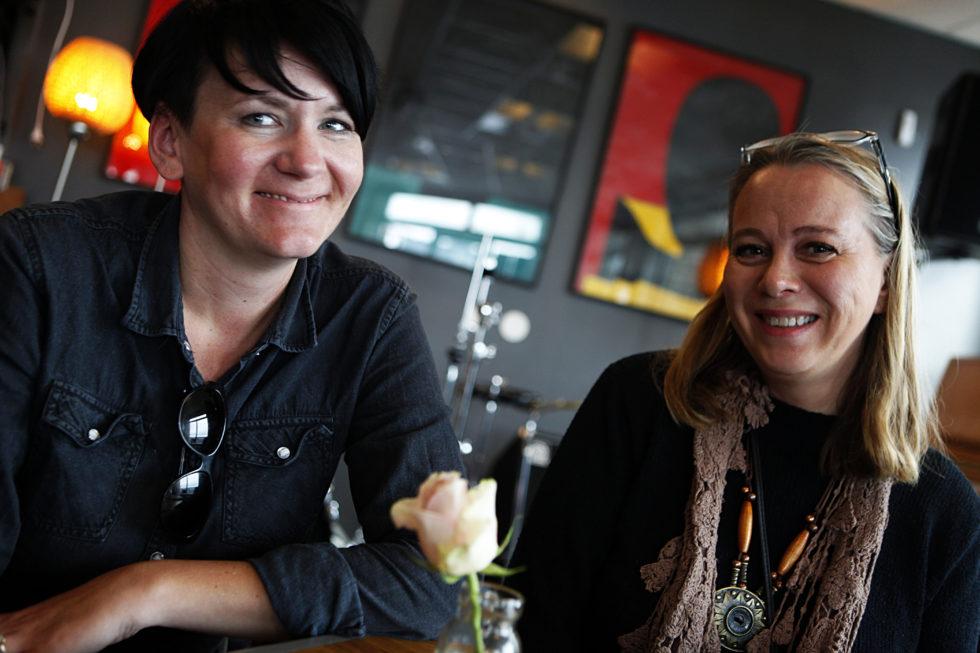 Yvonne Hiis Og Lillan Anita Falch Fra Refugees Welcome To Aust-Agder. Foto: Jarle Kavli Jørgensen.