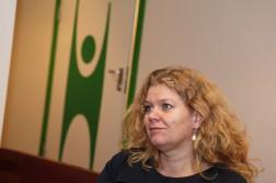 JULEGUDSTJENESTE: Marianne Løge fra Human Etisk Forbund er motstander av den tradisjonelle julegudstjenesten. Foto: Jarle Kavli Jørgensen.