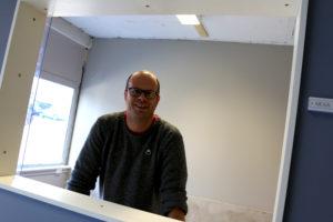 ÅPNER SNART: Mottaksleder Rune Nordgård I Egebo AS åpner Snart Administrasjonslokalet For Flyktningmottaket I Blødekjær. Foto: Esben Holm Eskelund