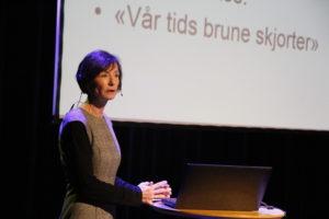 STORHAUG: Islamkritiker Hege Storhaug Under Foredarag I Kulturhuset Onsdag Kveld.