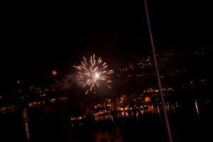 Raketter Over Tromøya Sett Fra Skibberhei