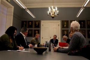 EKSTRAMØTE: Formannskapet I Arendal Holdt Ekstraordinært Møte I Arendal Gamle Rådhus. Foto: Esben Holm Eskelund