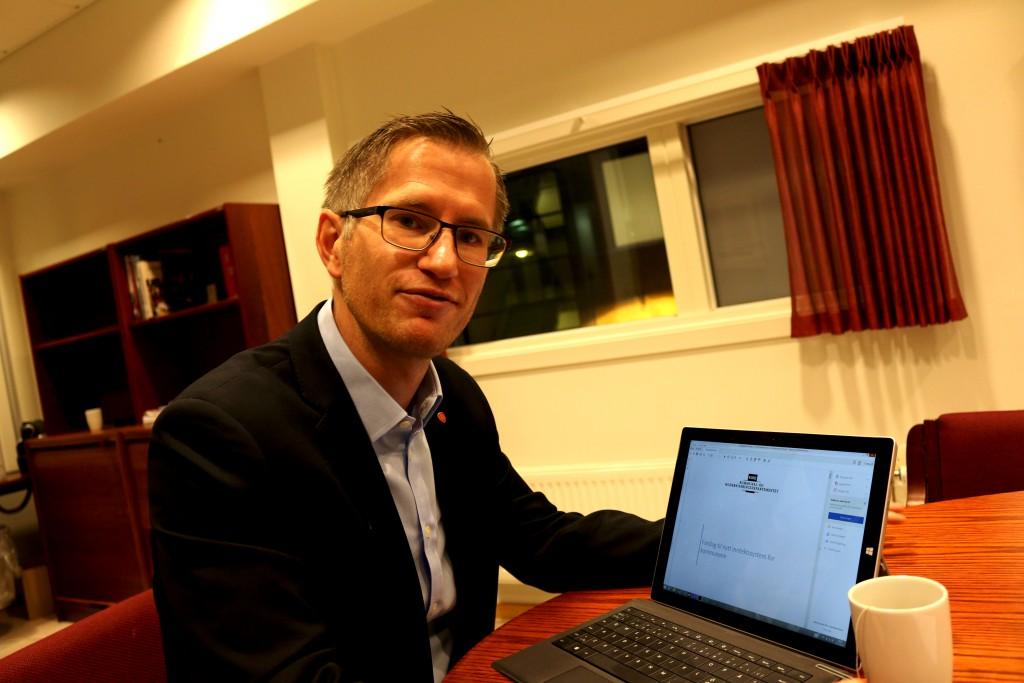 KLAR TIL DYST: Ordfører Robert C. Nordli var klar for det politiske 2016 allerede før det nye året var i gang. Foto: Esben Holm Eskelund
