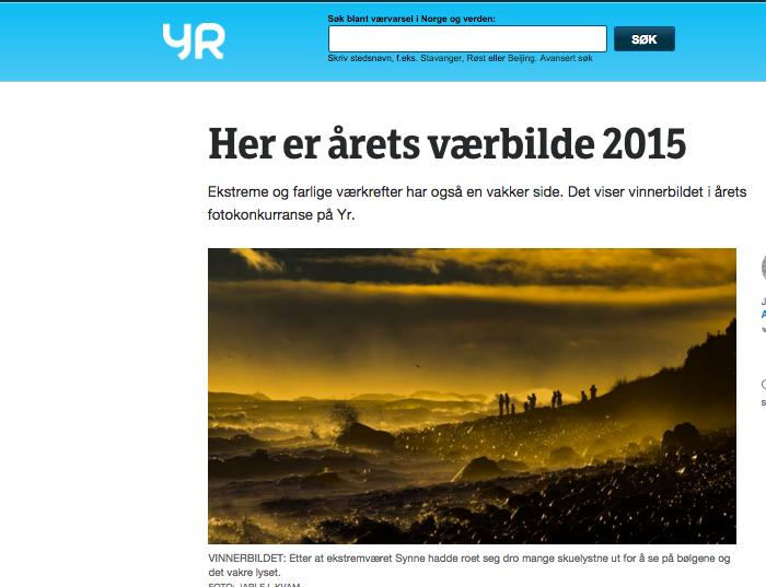 Arendalitt Vant årets Foto Hos Yr.no