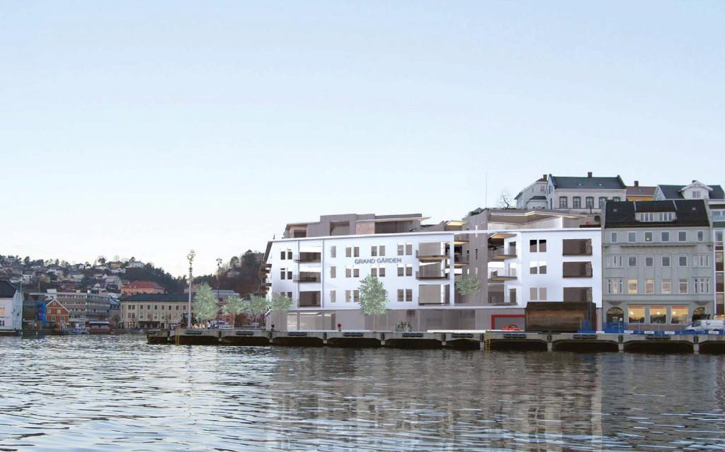 FEMTE ETASJE: Slik blir Grandgården med en ny etasje på toppen. Ilustrasjon: Rambøll