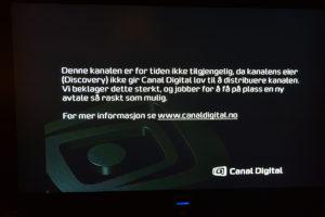 Slik Ser TVbildet Ut For Alle TVNorge Og Discovery-kanalene Via Canal Digital.