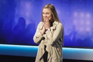 LYKKELIG: Torine Michelle Bjåland Fra Arendal Kom Videre Fra Ondagens Idol-audition. Foto: TV2.