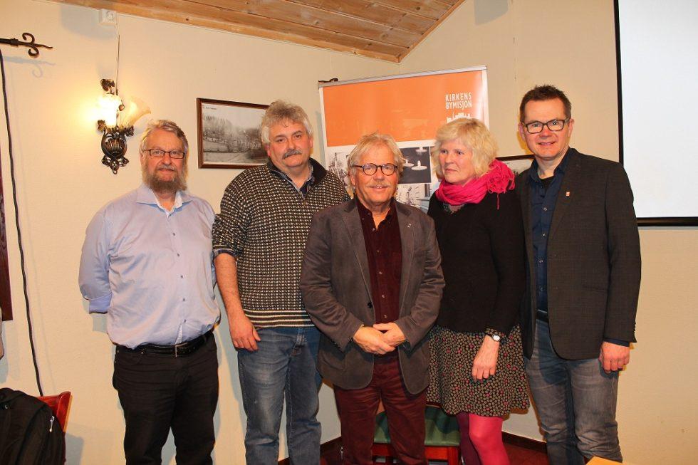 KIRKENS BYMISJON: F.v. Arild Olsbu, Per Gunnar Disch, Knut Mørland, Bente Modalsli Og Johannes Heggland.