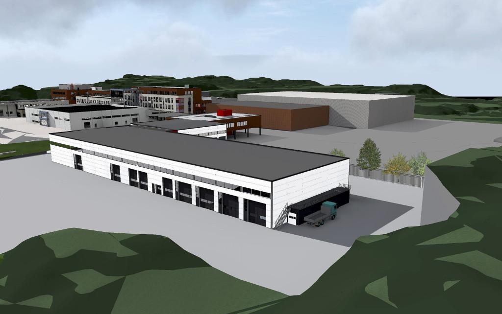 BYGGETRINN TO: Sam Eyde videregående skole skal utvides og gi plass til bedre undervisning i blant annet bygg- og anleggsfag. Illustrasjon: Norconsult