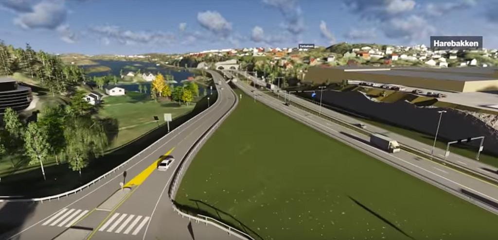 E18: Endrede forutsetninger gjør at både kommunepolitikerne i Arendal og fylkespolitikerne må akseptere høyere bompengekostnader på ny E18. Illustrasjon: Multiconsult/Youtube