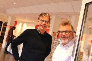 REKORDOMSETNING: Optikerne Lars Graue (t.v.) Og Jan Brekke Ved Brillehjørnet I Arendal Er Svært Fornøyde Med å Ha økt Omsetningen I Sentrumsforretningen Nok En Gang. Foto: Esben Holm Eskelund