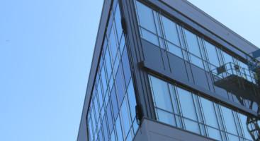 SMALT: Den smaleste delen av bygget ender i en perfekt vinkel. Foto: Esben Holm Eskelund