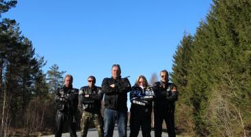 MC: Motorsyklister tar opp kampen mot mobbing. Foto: Elin Gjeruldsen