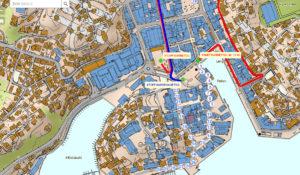 SLIK GÅR TOGET: På Kommunens Interaktive 17.mai-kart Kan Du Finne Ut Hvor Din Skole Skal Møte. Kart: Arendal Kommune