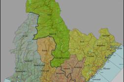 FEM KOMMUNER: Slik ser Fylkesmannen i Aust- og Vest-Agder for seg at dagens 30 kommuner reduseres til fem i fremtiden. Klikk på bildet for stor versjon. Illustrasjon: Fylkesmannen i Aust- og Vest-Agder