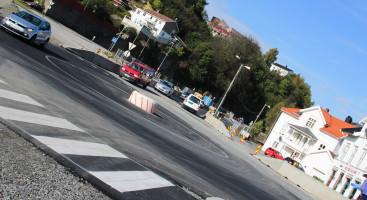 OMDIRIGERING: Bilister i Barbu får en litt annen vei enn de er vant til de neste månedene. Foto: Grete Husebø