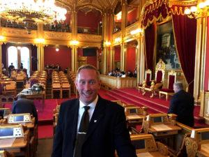 STORTINGSVIKAR: Varaordfører Terje Østebø Eikin (Krf) I Arendal Tilbrakte Høsferien Som Stortingsvikar. Foto: Privat
