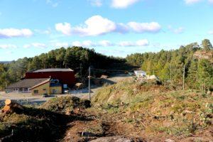 I GANG: Arbeidet Med Tilrettelegging Av Tomt For Ny Skole På Roligheden Er I Gang. Alle Foto: Esben Holm Eskelund