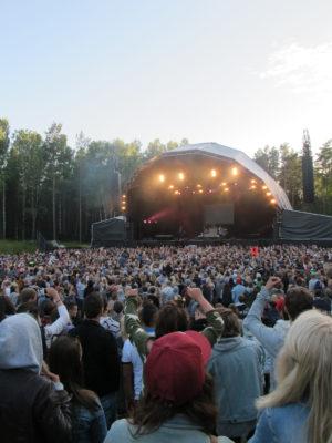 HOVE AMFI: Bildet Viser Stor Stemning Foran Amfiscenen På Hove I 2013. Arkivfoto.