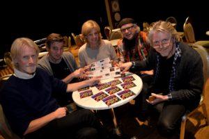 KLAR FOR NY SESONG: Arendal Jazzklubb Presenterte Sist Uke Vårens Program. F.v: Frank Kvarstein, Preben Karlsen, Inger Haugan Aasland, Anders Skog Og Jørn Størkson. Foto: Linda Dyrholm