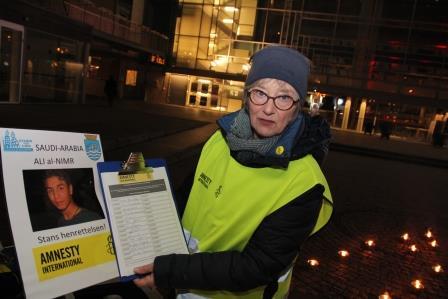 ÅRETS: Ellen Rygh Mottok Pris For årets Menneskerettighetsforkjemper Onsdag Kveld. Foto: Grete Husebø
