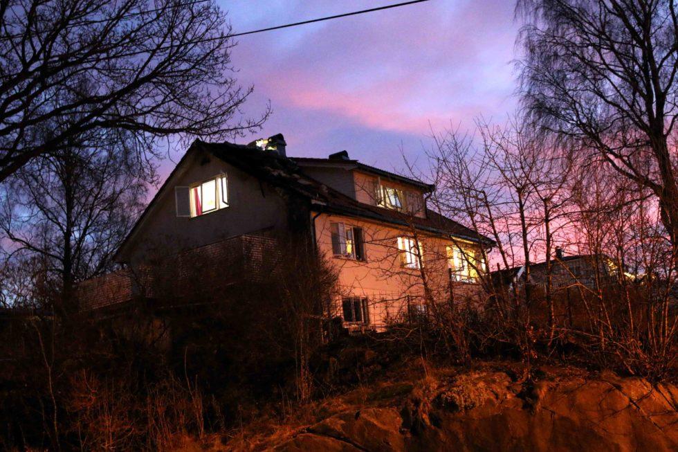 HUSBRANN: En Bolig I Tivoliveien Ved Kongshavn Ble Skadet I Brann Natt Til Mandag. Foto: Esben Holm Eskelund