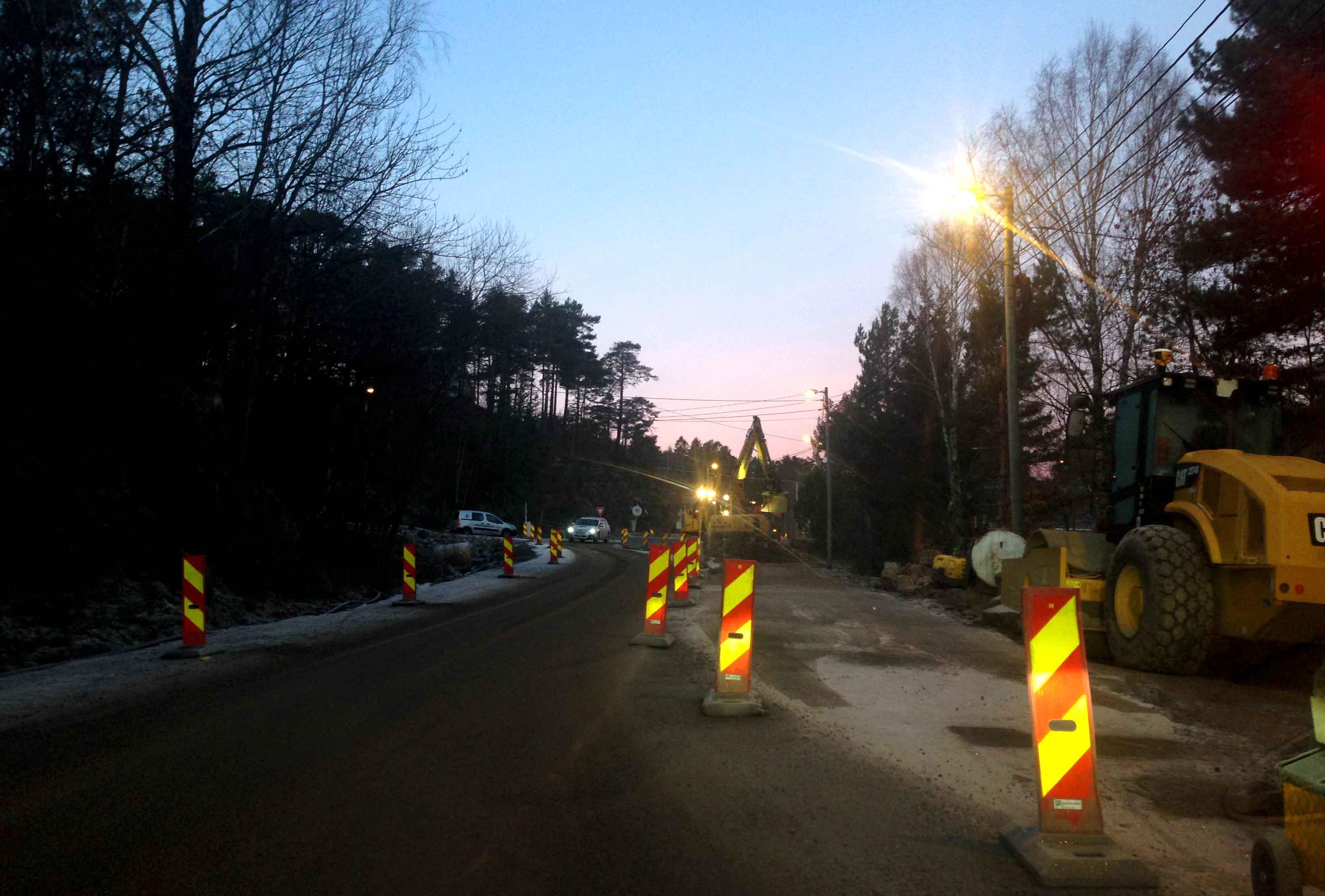 Denne Veien Blir Kvelds- Og Nattestengt