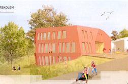 NYTT SKOLEBYGG: Steinerskolen i Arendal vil bygge nytt, men rådmannen mener det ikke er ønskelig å stille opp for at nybygget skal realiseres. Illustrasjon: Asplan Viak