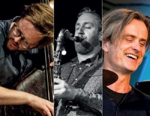 """MUSIKALSK ELITESERIE: En Svenske Og To Nordmenn Utgjør Trioen """"Audratx"""". Til Torsdag Starter De Sesongen For Arendal Jazzklubb. Pressefoto"""