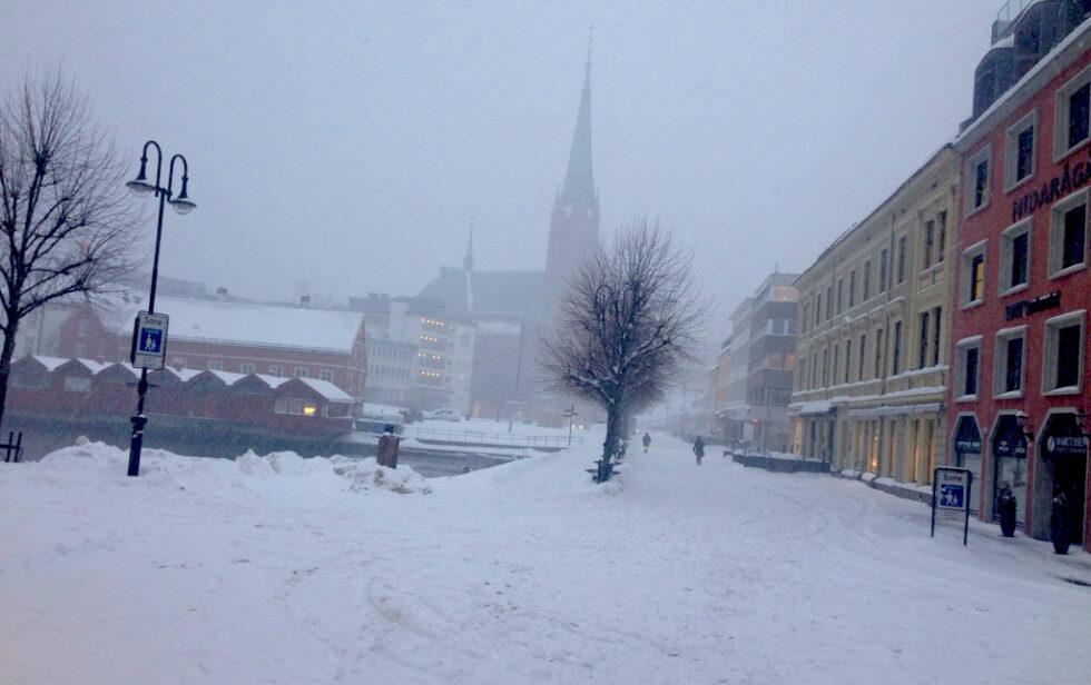 VINTER I ARENDAL: Etter En Nærmest Snøfri Januar Gjorde Vinteren Sitt Inntog I Arendal Denne Måneden. Foto: Esben Holm Eskelund