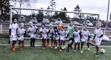 HELTENTE: Sørfjells 2005 lag var klare og gledet seg til treningskamp mot Myra.