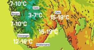 SOMMER KOMMER: Søndag Kan Bli Sommervarm I Arendal, Ifølge Meteorologisk Institutt. Foto: @meterologene/twitter