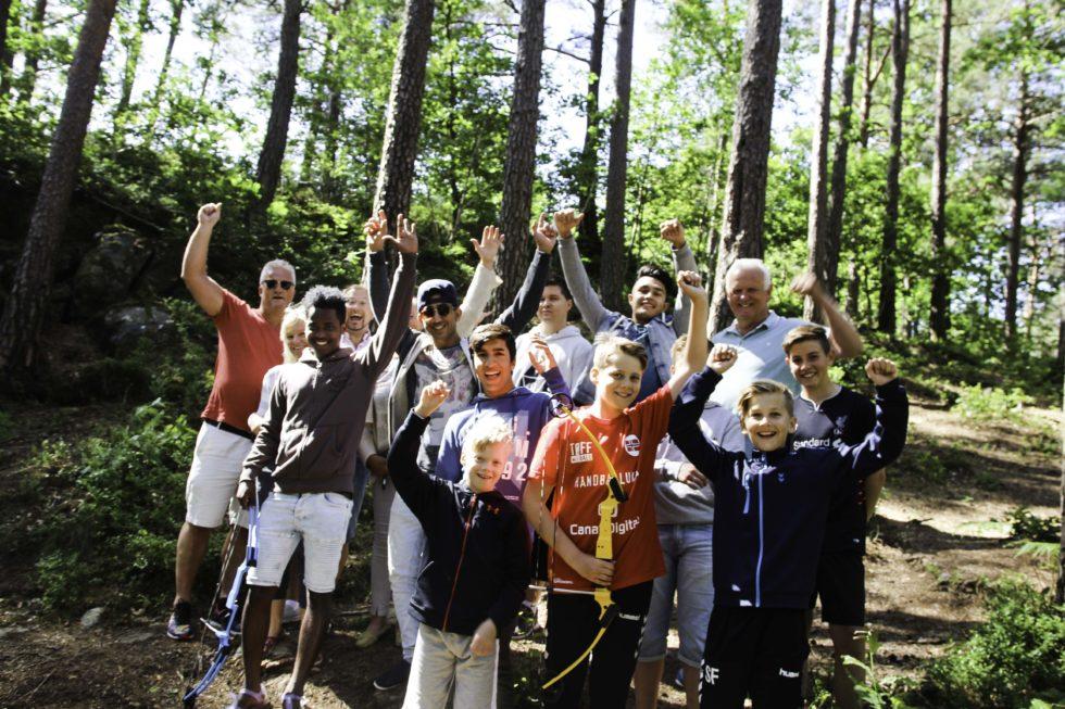 GJENG: Elleve Ungdommer Møtte Opp Til Aktivitetsdag På Fortet. 10. August Satser Arrangørene På Enda Bedre Oppmøte.