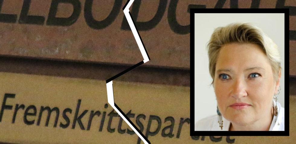 MELDER SEG UT: Vararepresentant Maurith J. Fargerland I Bystyret I Arendal Melder Seg Ut Av Fremskrittspartiet. Foto: Esben Holm Eskelund/Facebook/Montasje