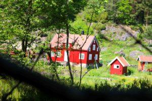FARMEN-GÅRDEN: TV2s Farmen-gård Ligger På Flostaøya I Arendal, Like I Nærheten Av Et Svært Attraktiv Område For Båtferierende Turister. Foto: Esben Holm Eskelund