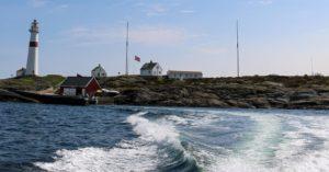 TURISTMÅL: Store Torungen Fyr Utenfor Arendal Har Gode Besøkstall. Her Kan Turistene Også Overnatte. Foto: Esben Holm Eskelund