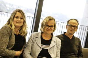JUBILERER: F.v. Prosjektleder Marie H. Søraker, Daglig Leder Helene Falch Fladmark Og Leder For Innovasjon Lars Petter Maltby. Foto: Grete Helgebø