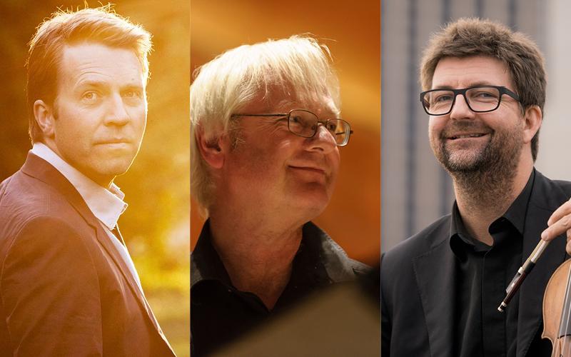 SAMARBEID: Leif Ove Andsnes, Lars Anders Tomter Og Jan Bjøranger Skal Bidra Til å Gi Arendalittene En Ny Klassisk Opplevelse. Pressefoto