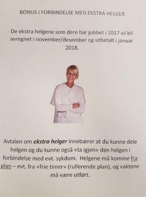 BONUS: Slik Ble Sykepleiere Informert Om At En Bonus De Trodde Skulle Komme I November Ikke Kommer Før I Januar, Det Skapte Kraftige Reaksjoner. Foto: Privat
