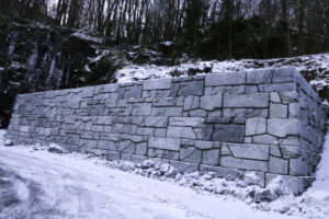 SLAM: Det Som Ved Første øyekast Ser Ut Som En Mur Er Egentlig Et Miljøtiltak. Foto: Grete Helgebø