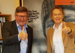 FELLES DUGNAD: Fylkesmann Stein A. Ytterdahl Og Fylkesaksjonsleder Anita Mørland. Pressefoto