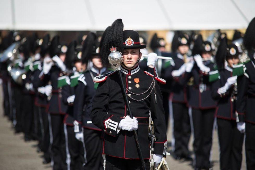 Byens Korps Får Spille Med Hans Majested Kongens Garde