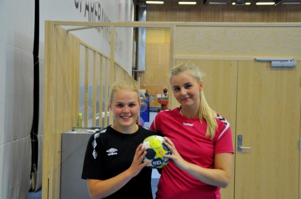 KLARE FOR LANDSLAGET: F.v: Fanny Skindlo Og Celina Vatne Trener Hardt Og Målrettet For å Nå Håndballdrømmen. Foto: Øystein Antonsen