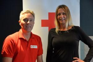 NYTT PROSJEKT: Enhetsleder I Aust-Agder Røde Kors, Kurt Henning Johnsen Og Prosjektleder  For «Åpent Røde Kors Hus» Gleder Seg Til å Ta Fatt På Nytt Ungdomsarbeid I Arendal.