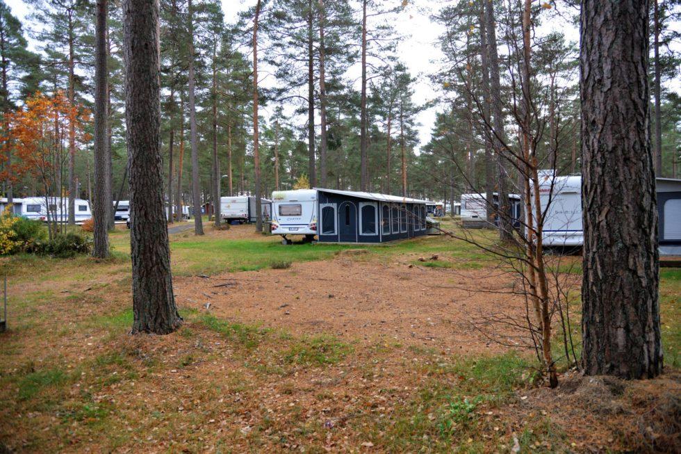Hove Camping. Arkivfoto