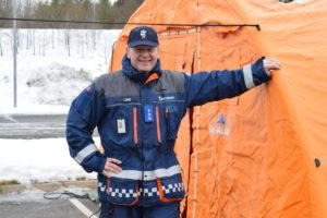 VELKJENT TELT: De Oransje Teltene, Er For Mange, Kjennetegnet Til Sivilforsvaret. Foto: Marita Dæhlin