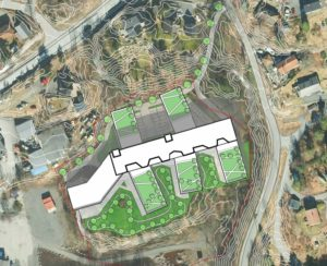 SALTRØD: Her Havner Det Første Helsehuset. Illustrasjon: Arki-tek Design