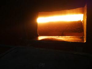 BRENNENDE KULL: Inni En Av Kjelene På Kullkraftverket. Foto: Privat