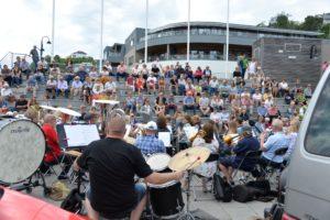 SOMMERKONSERT: Arendal Byorkester Holdt Sin Tradisjonelle Sommerkonsert På Sam Eydes Plass.