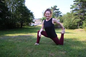 PÅ GOD VEI: Anne Føland Hagane Er Halvveis I Utdanningen Som Instruktør Hos Oslo Yoga Og Holder Gratis øvingstimer. Foto: Grete Helgebø